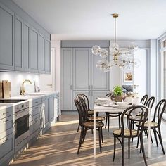 Love this kitchen, do you? Kitchen Butlers Pantry, Edwardian House, Corner House, Interior Decorating, Interior Design, Furniture Plans, Kids Furniture, Scandinavian Interior, Stockholm