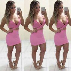 Nosso lindo no pink  Mas tem no branco e preto   Vestido Adrielly (ref no site ... 1640) R$ 98,00 www.belostylo.com.br