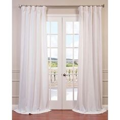 Shop for Heavy Faux Linen Curtain Panel. Free Shipping on orders over $45 at Overstock.com - Your Online Home Decor Outlet Store! Get 5% in rewards with Club O! - 16908633