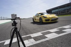 The Porsche Track Precision App used in the Cayman GT 4