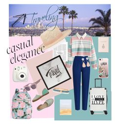 """""""Travelig-steipes"""" by obretin-raluca on Polyvore featuring Fujifilm, Emilia Wickstead, ban.do, Janessa Leone, CalPak, Mark Cross, Macarena, Casetify, Holly's House and Witchery"""