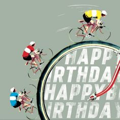 silhouette mountain bike happy birthday card our zazzle sales