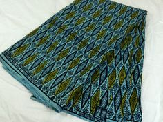 Kenyan Fabric--African Wax Print Fabric--Ankara Fabric--Blue, Navy, and Olive Diamond Print Fabric--African Fabric by the HALF YARD - pinned by pin4etsy.com