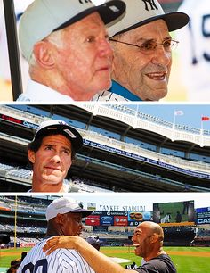 Old Timer's Day 2012 Love this day! My Yankees, New York Yankees, Old Timers Day, Baseball Field, Baseball Cards, Love My Boys, Derek Jeter, Mlb, Buffalo