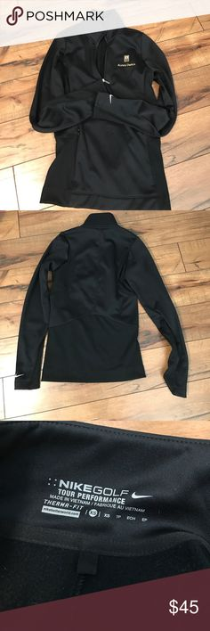 Nike Golf Tour Performance NWOT Half Zip Pullover New without tag. I got this a while ago and have never worn it. Alpha Omega is embroidered on it from a winery. Has pockets. Cute. Needs someone that will actually use it. Nike Sweaters