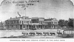 Painting of commercial Reno, NV in 1870s.