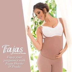Enjoy every moment of your pregnancy with #FajasDiseñoDPrada Our maternal girdles are designed to follow the natural evolution of your body during pregnancy. Shop online www.misfajas.com