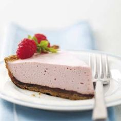 Chocolate-Raspberry Mousse Pie Recipe from Virginia Anthony in Jacksonville, Florida — from Healthy Cooking magazine