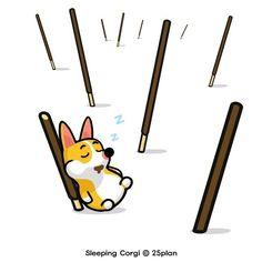 #낮잠 #슬리핑코기 #웰시코기 #캐릭터 #일러스트 #개 #반려견 #동물 #강아지 #잠자는개 #SleepingCorgi #Sleep #dog…