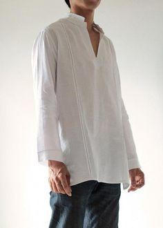 100% Linen djellaba style men s shirt 5702 by cocoricooo on Etsy   mensfashiontrends Азиатская Мужская a33a3eec13d2c