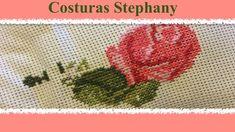 Comienzo de Corazones de Rosas en punto de cruz #1