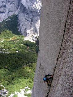 Climbing up the crack