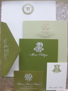 The Enchanted Home: Mad for monograms and a monogram giveaway! Monogram Stationary, Stationary Gifts, Personalized Stationary, Custom Stationery, Stationery Paper, Wedding Stationary, Stationary Design, Enchanted Home, Fine Paper