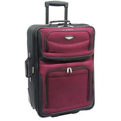 Travel Select Amsterdam 29 inch Expandable Rolling Upright Suitcase, Red