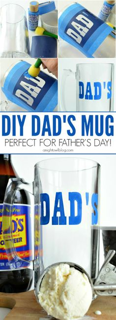 Day Dad's Mug DIY Dad's Mug - perfect gift for Father's Day!DIY Dad's Mug - perfect gift for Father's Day! Fathers Day Crafts, Gifts For Father, Happy Fathers Day, Daddy Day, Diy Mugs, Father's Day Diy, Daddy Gifts, Grandparents Day, Diy Christmas Gifts