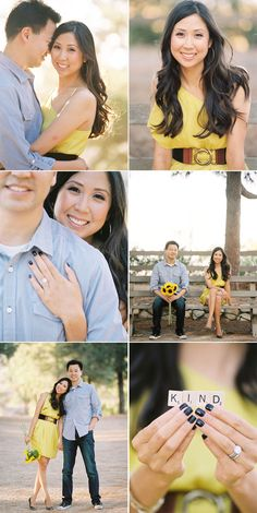 Stunningly cute, vibrant dress for her. Classy button down and comfy jeans for him. Always a winning combo! Engagement Photo Outfits, Engagement Photo Inspiration, Engagement Ideas, Engagement Couple, Engagement Pictures, Engagement Session, Couple Photography, Engagement Photography, Photography Poses