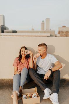 Aug 2019 - Downtown donut engagement session // Tulsa, OK Photographer