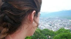 Julieta overlooking #Salta. Circa 2012. #travel