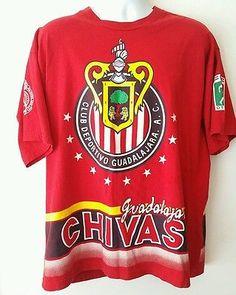 78e0ad5fe01 CLUB DEPORTIVO GUADALAJARA CHIVAS Mexico FMF Soccer Red T-SHIRT Camiseta XL