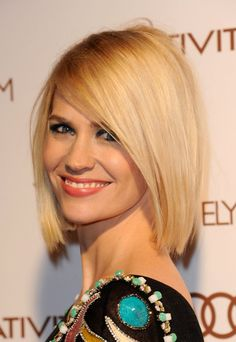 January Jones, Amanda your hair would look really cute like this!