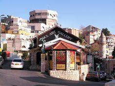 Tzfat, Israel - Architecture, art gallery, Abraham Sade Square (Kikar Sade) (כיכר שדה), Old City Artists Colony #travel #israel #Tzfat #ArtistsColony