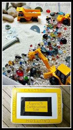 Construction Site Sensory Bin Gift