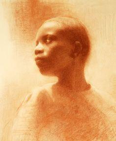 Susan Lyon (conte drawing)