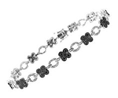 9ct White Gold Black Diamond Flower Link Bracelet  Product ViewSee larger image and other views (with zoom)Check All OffersAdd to Wish ListCustomer Reviews http://ecx.images-amazon.com/images/I/41ICibTVGEL._SL300_.jpg http://electmejewellery.com/jewelry/bracelets/9ct-white-gold-black-diamond-flower-link-bracelet-couk/
