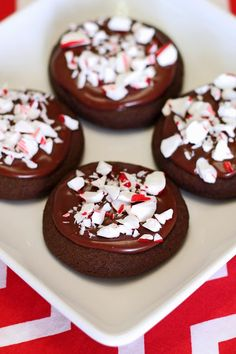 Sarah Bakes Gluten Free Treats: gluten free vegan frosted chocolate peppermint cookies