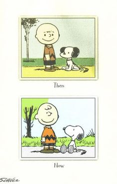 Charlie Brown Snoopy, Then and Now, and we still love them ❤.