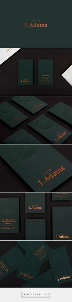Gestion J.Adams Business Card Design by Valérie Pilotte | Fivestar Branding Agency – Design and Branding Agency & Curated Inspiration Gallery #BusinessCards