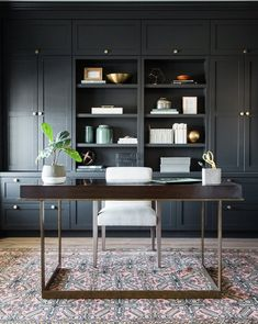 50 Best Inspiration Home Office Design Built in The Cabinets Makes The Room Look Very Neat - Dlingoo Office Office, Office Built Ins, Home Office Space, Study Office, Home Office Design, Home Office Furniture, Home Office Decor, House Design, Home Decor