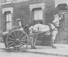 Vintage photo of a milkman's horse knocking on the door. Stories abound of working horses who knew their routes so well they would keep going even if the driver fell asleep! Beautiful Horses, Animals Beautiful, Vintage Photographs, Vintage Photos, Knock On The Door, Funny Horses, Vintage Horse, Horse World, Draft Horses