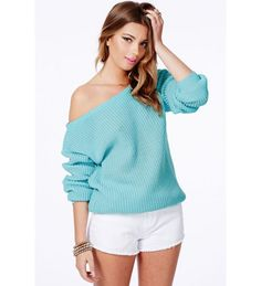 Sexy Strapless Autumn Knited Sweater