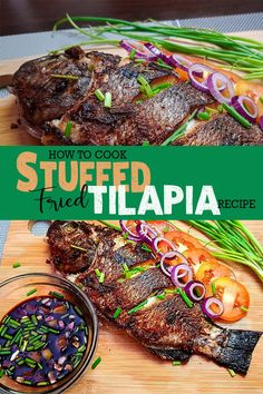 Stuffed Fried Tilapia with Pinoy Recipes. Tilapia Fish is a common Filipino Dish and economical price. This Recipe can be Grill or fry depends on your cravings or want.  #pinoyrecipe  #tilapiarecipe #friedfish Filipino Dishes, Filipino Food, Filipino Recipes, Tilapia Recipes, Easy Chicken Recipes, Fish Recipes, Fried Tilapia, Fried Fish, Pinoy Fish Recipe