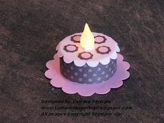 Sooo cute! Paper battery tea light 'cake' from Tamara's Paper Trail