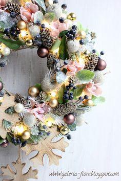 A na zakończenie... Ornament Wreath, Ornaments, Christmas Wreaths, Holiday Decor, Home Decor, Deco, Decoration Home, Room Decor, Christmas Decorations