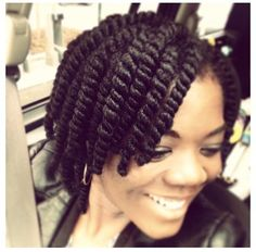 Her natural hair twists are perfect. I bet that twistout is fab.