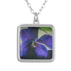 Blue Flower Personalized Necklace by Natural View $91.15