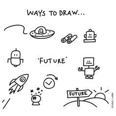 265 vind-ik-leuks, 4 reacties - Studio Limón (@studiolimonillustrations) op Instagram: 'Que será, será...✨ Word of day 17: Future. . . #365waystodrawfestival #future #toekomst #robot…'