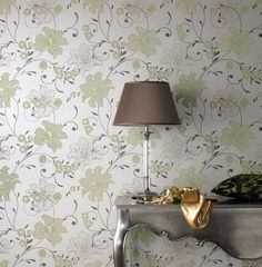 Taffetia Green Wallpaper by Graham and Brown
