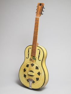A 1930 Triolian model that someone long ago decided to repaint. Guitar Musical Instrument, Guitar Art, Musical Instruments, Cool Ukulele, Cool Guitar, Lap Steel Guitar, Resonator Guitar, Guitar Photography, Guitar Collection