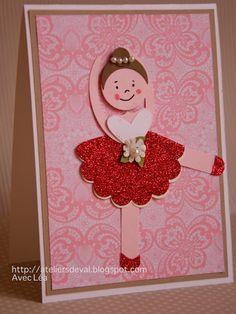Sweet Ballerina punch art card.
