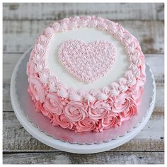 I love you more today than yesterday, but not as much as tomorrow. Cake Decorating Designs, Creative Cake Decorating, Cake Decorating Videos, Birthday Cake Decorating, Cake Decorating Techniques, Creative Cakes, Cake Designs, Elegant Birthday Cakes, Beautiful Birthday Cakes