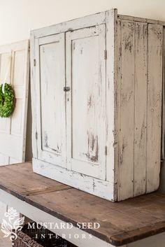 MMS Milk Paint Farmhouse White color. reclaimed cabinet hardware ...
