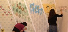 Wallpaper-by-Numbers for Easy, Fun Color ~~ Particularly ideal for kids who just can't stop colouring the wall, or for a new creative outlet designer Jenny Wilkinson stumbled upon an idea in 2003 to create her own wallpaper that you can customise with colour. Though not really filled in with numbers…