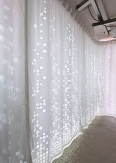 curtain to glow your homes! I like this curtain because the transparent materials that allow some part light through in.