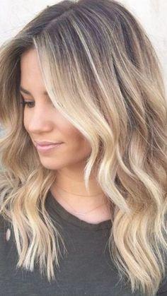 Medium Hair Cuts, Medium Hair Styles, Curly Hair Styles, Blonde Ombre Hair Medium, Medium Length Ombre Hair, Shoulder Length Ombre Hair, Medium Length Hair With Layers Straight, Brown Eyes Blonde Hair, Short Hair Styles Easy