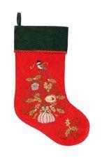 """Holiday Garden Velvet Christmas Stocking 8.5"""" x 20"""""""