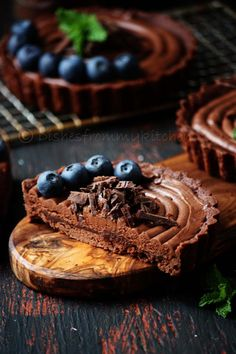 ♂ Food styling photography still life Eggless chocolate tartlets